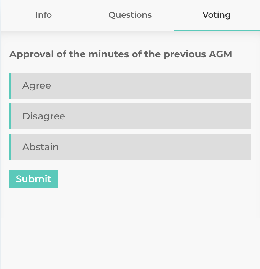 Voting Example for Livemeeting